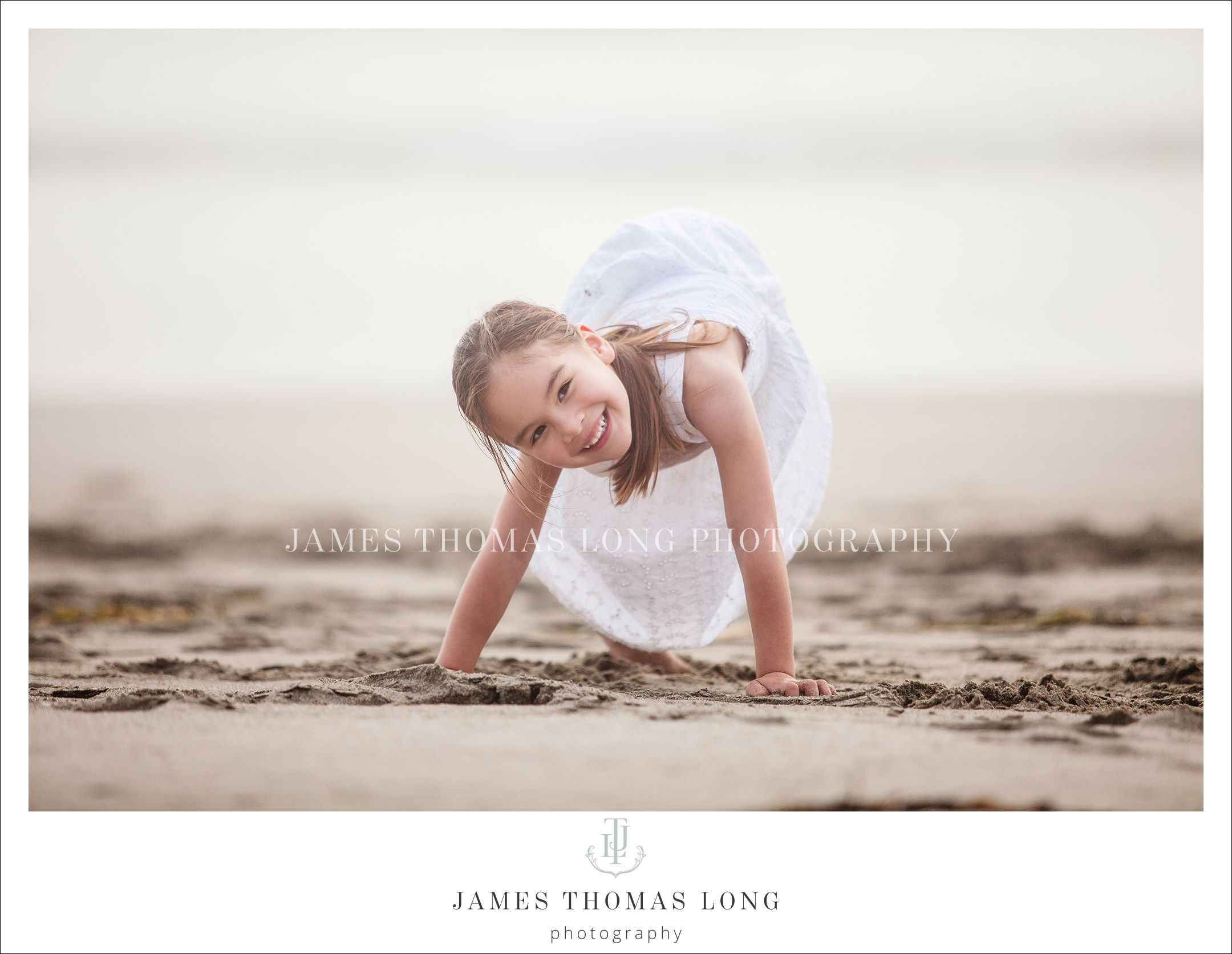 young girl wearing white dress - family photography